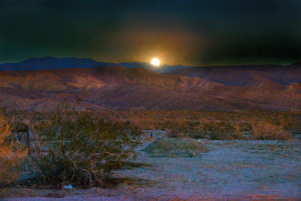 Moonrise over the Coachella Valley