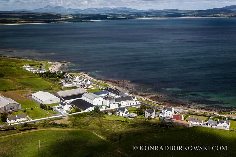 Aerial view of Bruichladdich Distillery, Isle of Islay
