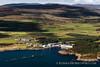 Aerial view of Laphroaig distillery, Isle of Islay.