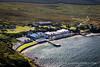 Aerial view of Bunnahabhain Distillery, Isle of Islay