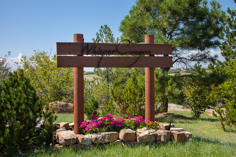 Whispering Pines Sign,Gate-15