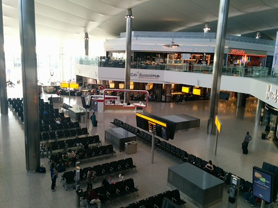 Departure lounge in the new LHR T2