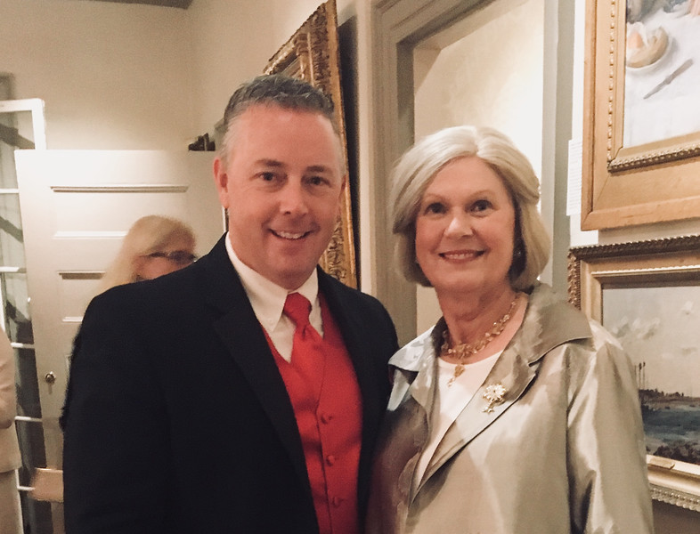 State Rep. (and auctioneer extraordinaire) Tom Golden Jr., and Whistler House Vice President Therese O'Connor, both of Lowell