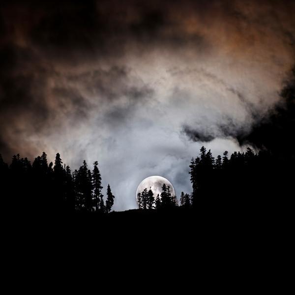 Moonrise Over Blackcomb Mountain