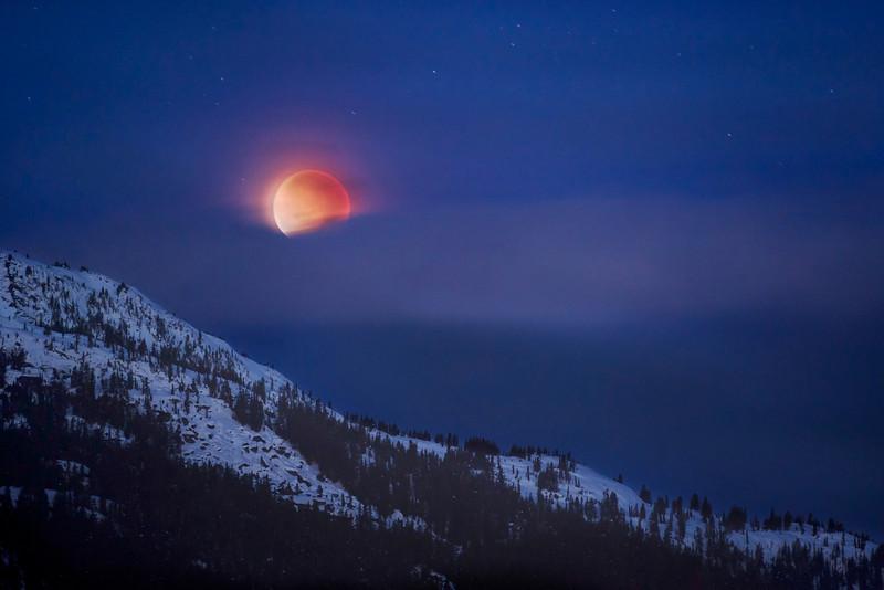 Lunar Eclipse Over Sproatt Mountain