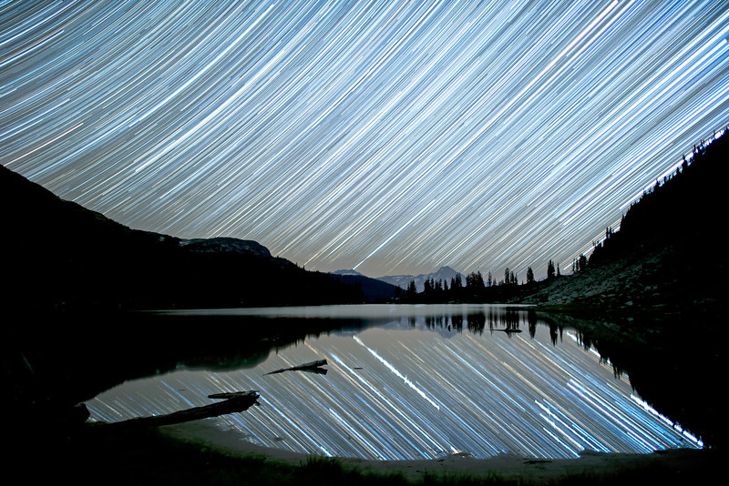 Star Wash Over Rainbow Lake