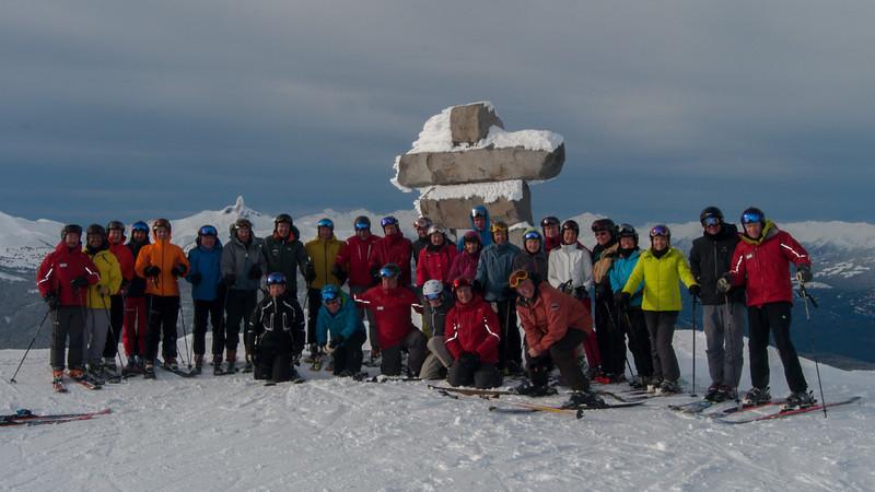 ISHA Ski Day 09 (group picture)