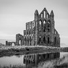 Whitby Abbey black and white 5