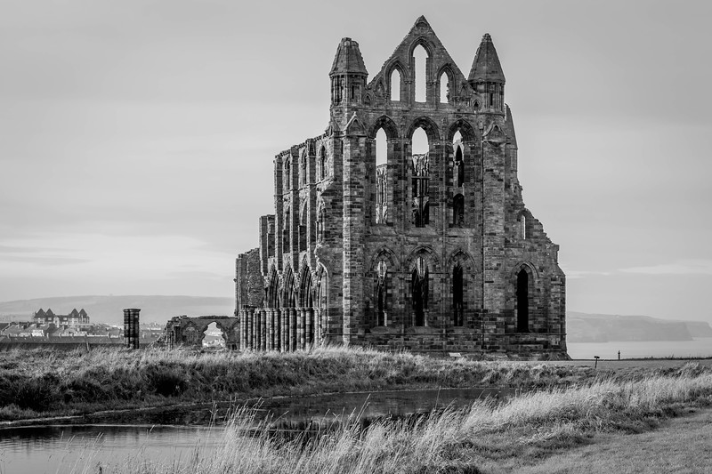 Whitby Abbey black and white 4