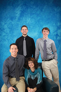 Carol Young Family Portrait - November 2015 - Blue backdrop