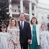 25 year ago, 1993, Leominster Councilor Rick Marchand was working at New England Specialty Printing when they got the contract to make 12,000 Easter eggs for the White House's Easter Egg Roll. This is a picture of Marchand, center, with his family on the White House lawn during the festivities. From left is his daughters Stephanie, 8, Kimberlee, 13, Marchand, his wife Debbie and daughter Dian, 11. (photo of a photo) SENTINEL & ENTERPRISE/JOHN LOVE