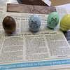 25 year ago, 1993, Leominster Councilor Rick Marchand was working at New England Specialty Printing when they got the contract to make 12,000 Easter eggs for the White House's Easter Egg Roll. Some of the eggs he made sit on the story that ran in the Sentinel & Enterprise that year. SENTINEL & ENTERPRISE/JOHN LOVE