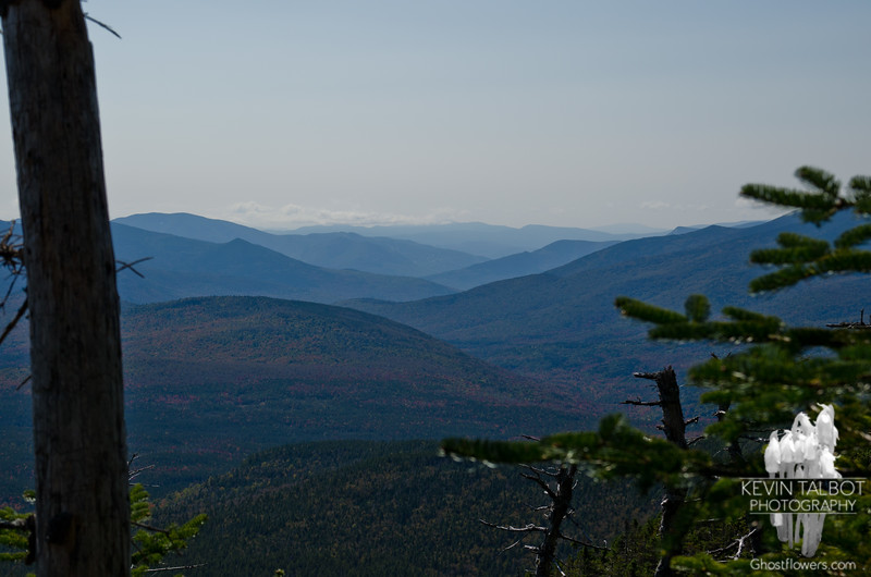 View west across the Pemigewasset Wilderness to Loon Mountain from Willey Range Trail.
