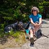 On the summit of Belknap.