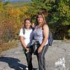 Wanda and Noelia on the lower ledges.