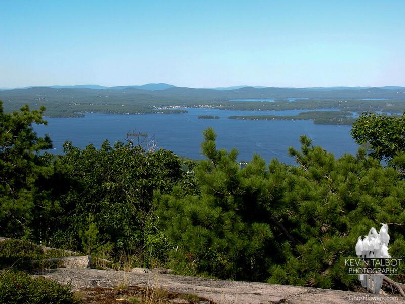 View east across Lake Winnepesaukee to Wolfboro.