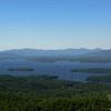 View northeast across Lake Winnepesaukee.