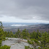 View across Winnipesaukee from near summit of Belknap Mountain...