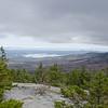 View across Winnipesaukee from near summit of Belknap Mountain...