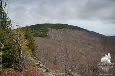 Looking up to Belknap from Piper...