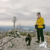 Jude and Emma on the summit of Straightback Mountain.