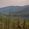 View northeast of Pinkham Notch and Carters.