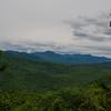 View southwest towards (L to R) Mounts Paugus, Whiteface, Passaconaway, Tripyramids.