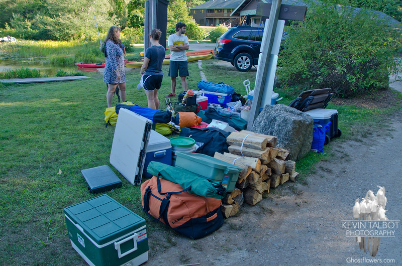 Maybe 1/3 of the gear that was ferried, the rest was in our kayaks!