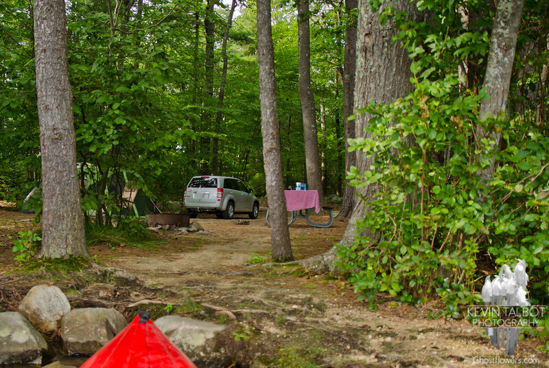 Campsite from the launch...