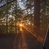 … and sunset from the protection of our tent.