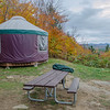 Our yurt for the next three nights.