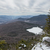 High above Lonesome Lake.