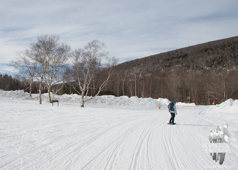Starting out along the snowmobile trail.