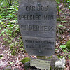 Caribou - Speckled Mountain Wilderness border sign.