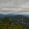 Northeast the Presidential Range is in the clouds.
