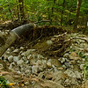 """This is a 12"""" culvert, but where the washout started there was a 36"""" culvert that couldn't handle the flood!"""