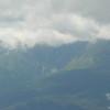 Clouds descend into Huntington Ravine on Mount Washington.