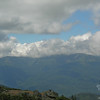 Clouds roll over the summit and into the ravines on Mount Washington.