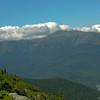 A good view of Tuckerman Ravine, Raymond Cataract and Huntington ravine from just below Carter Dome summit.