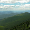 View south from Mount Hight. In the middle distance are the Doubleheads in front of Kearsarge North. To the right are the Moats and Mount Chocorua.