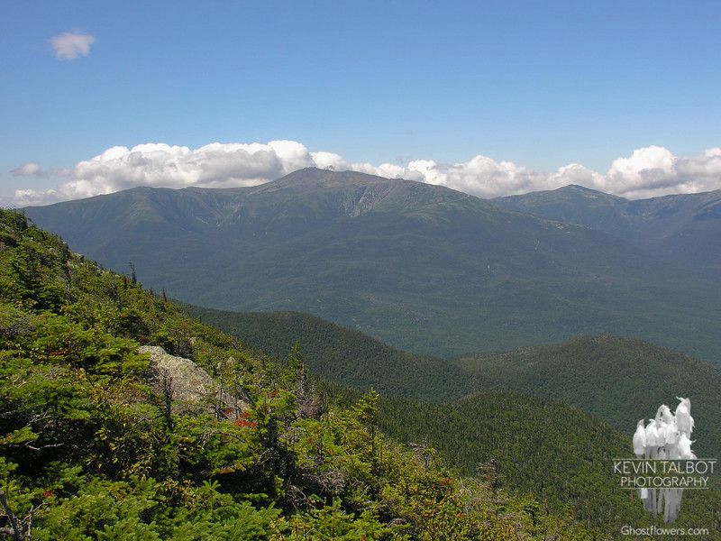 Boott Spur, Mount Washington and Mount Jefferson from just below Carter Dome summit.