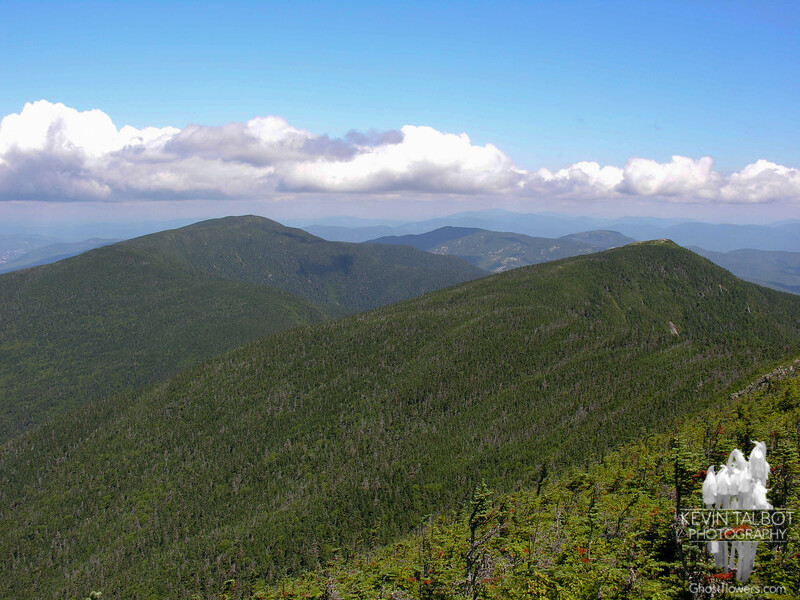 View north to South Carter (L) and Mount Hight (R). Mount Moriah is in the distance.