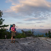 On the summit of Dickey Mountain.