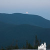 She sees Mr. Moon rising over Sandwich Dome!