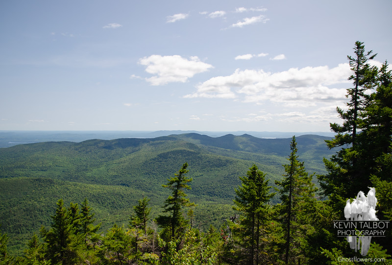 """""""The Geminis"""" -Pleasant Mountain is near center, barely visible on the horizon..."""