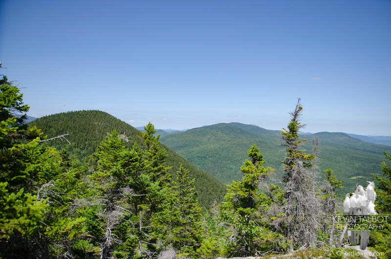 View northeast, North Doublehead left, Chandler, Sable, South Baldface center, Eastman right...