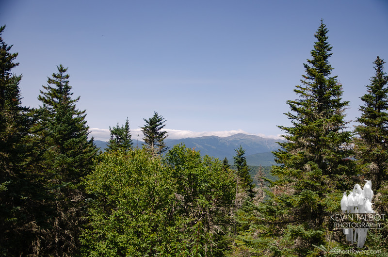 View northwest to Washington from the cabin...