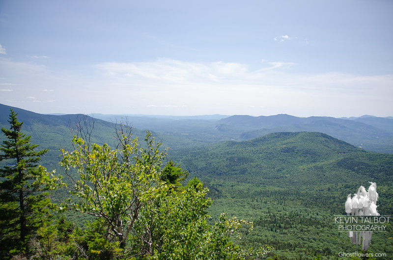 South to Mount Shaw in the Ossipee Range on the distant horizon, Moat Range to the right...