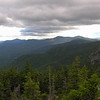 View south from the south ledge of East Royce Mountain. L to R Kearsarge North, Eastman Mountain, South Baldface and North Baldface.