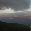 Alpenglow on the Carter Range.